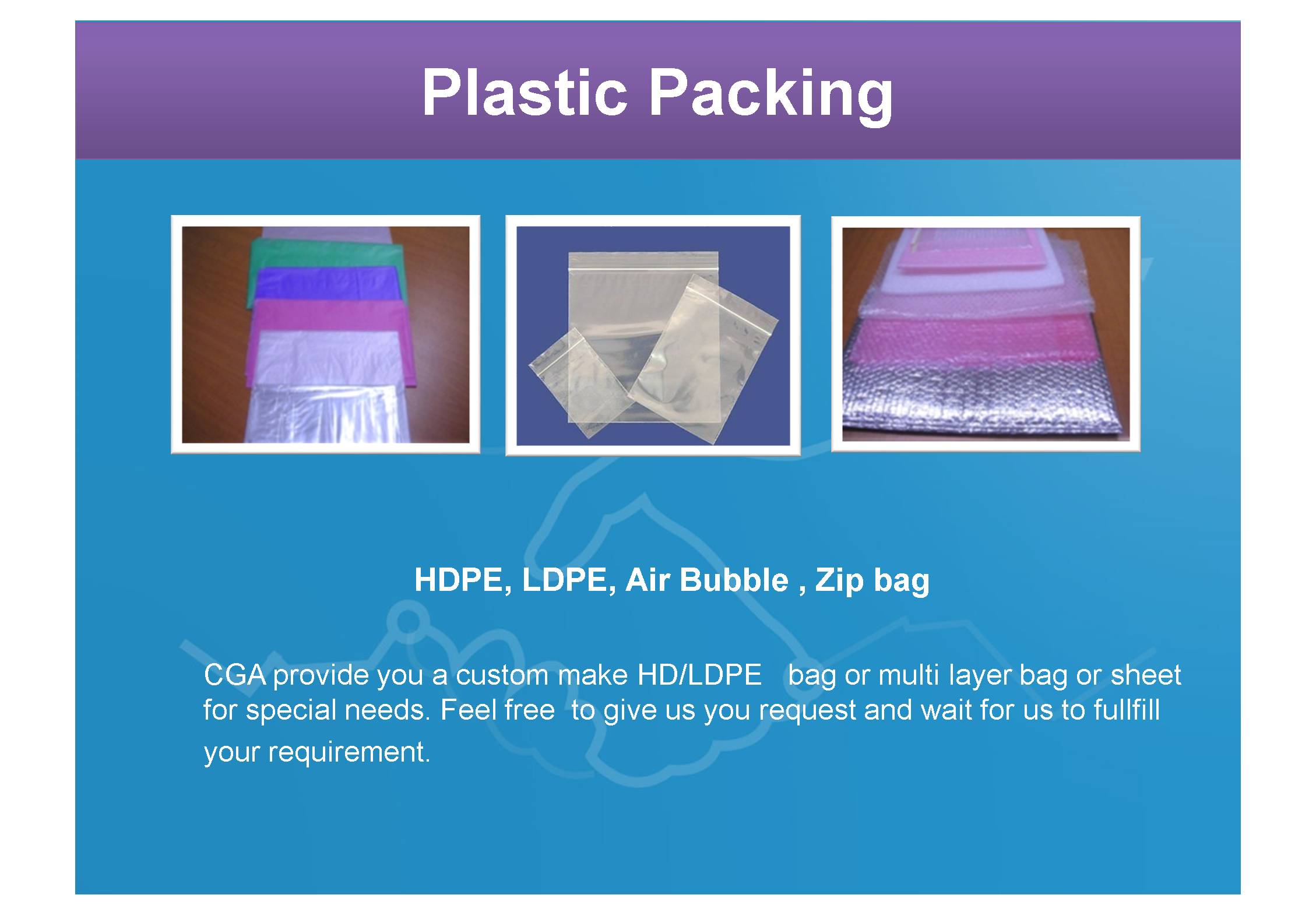 PLASTIC PACKING